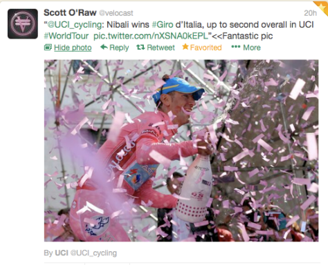 Giro Nibali confetti