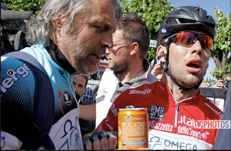 Giro Stage 13 exhausted Cav 2 REDIT DAVIDE CALABRESI