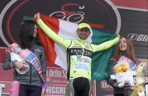 Giro Stage 14 Santambrogio podium CREDIT DAVIDE CALABRESI