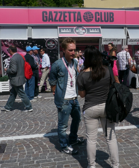 Someone's spotted local boy - he comes from Sacile - Enrico Gasparotto