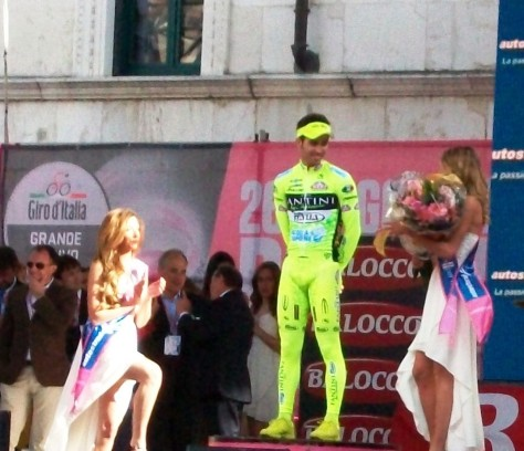 Rafael Andriato wins the intermediate sprints prize and the prize for the most breakaway kilometres (image Nathalie)