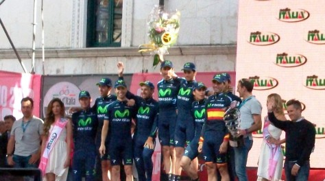 Movistar win four stages, have Intxausti in pink for a day and win the Super team award (image: Nathalie)