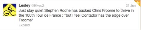 G Roche Froome but Contador