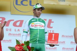 Julien Simon with the Tour de France combativity/consolation prize (Image: ASO)