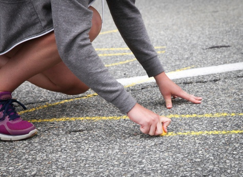 Marking the road - CC