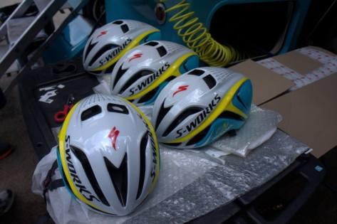 Go faster helmets (image: Astana)