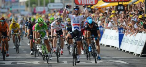 Cavendish opens his Tour account on stage 5 - again (Image: ASO)