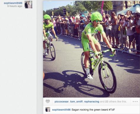 G Sagan green afro
