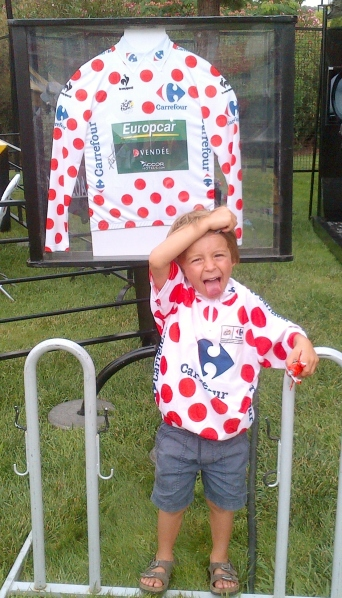 Looking cute in spots! A case of like father like son (image: Sheree)