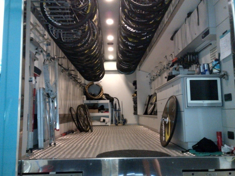 Ready to be loaded for the Tour (image: Sheree)