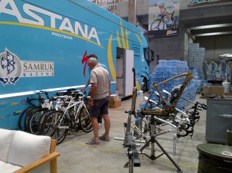 Just checking they've got the correct bikes for the Italian championship (image: Sheree)