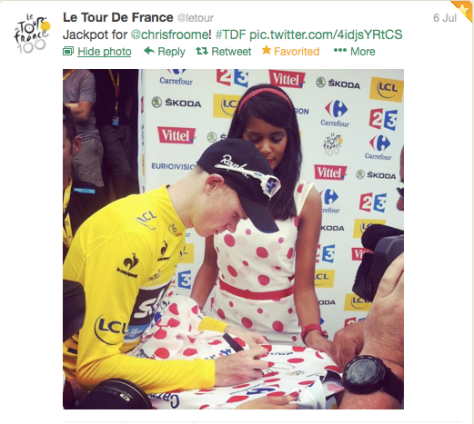 st8 Froome yellow