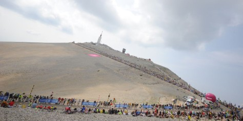 The peloton heads for the summit of Mont Ventoux (Image: ASO/P Perreve)