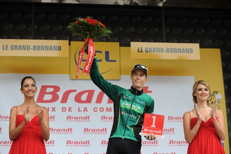 A brave ride by Rolland, but can he win the polka dot jersey? (Image: ASO/P Perreve)