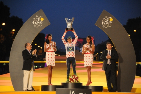 Quintana celebrated second overall and two jerseys in Paris (Image: ASO/B Bade)