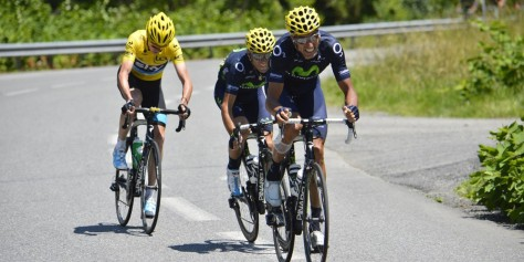 Froome spent most of the day tracking Movistar moves (Image: ASO)