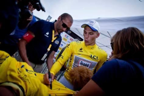 TdF Kittel in yellow ASO