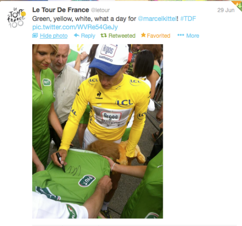 yellow Kittel signing