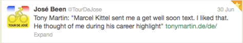 yellow Kittel tweet 1