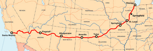 Antbanter Riding Route 66 Velovoices: Map Of America Route 66 At Codeve.org