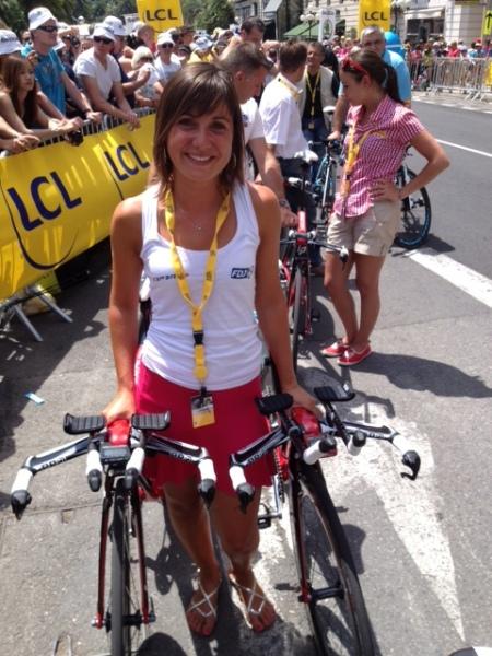 Sophie at team time-trial in Nice (image: Sophie Chavanel)