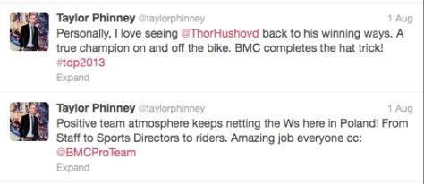 TdP Taylor positive team