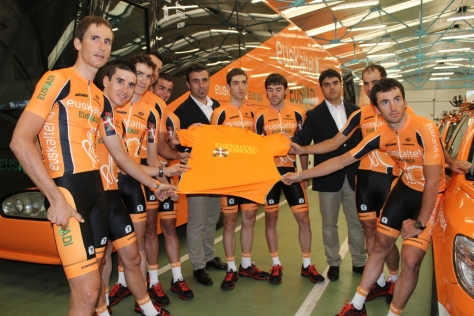 Who knew it would be their last appearance, no 13 unlucky for some! (image: Euskaltel Euskadi)