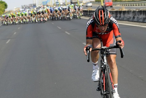 Don't look now, Marco, but they're behind you! (Image: Vuelta website)