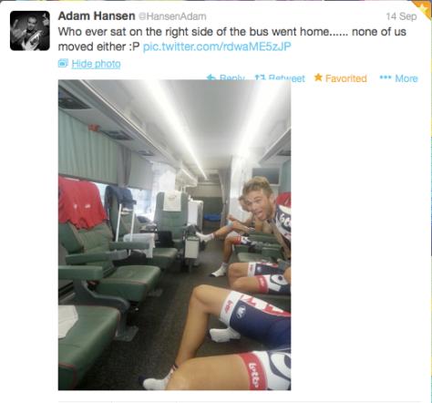 G Hansen empty bus