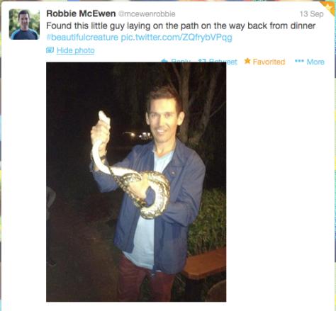 G McEwen snake handler