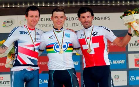 Worlds Men's TT podium 2013