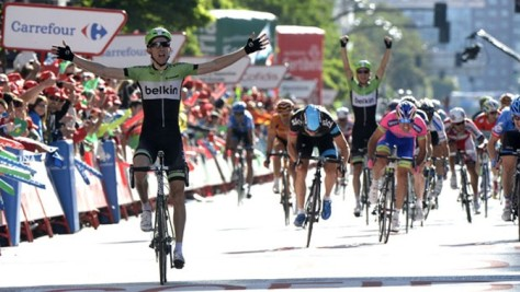 The sprinters were frequently outfoxed by attackers such as Bauke Mollema (Image: Vuelta website)
