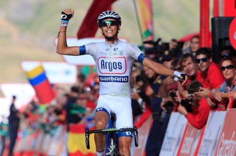 Double Vuelta stage winner Barguil turns 22 (Image: Argos Shimano)