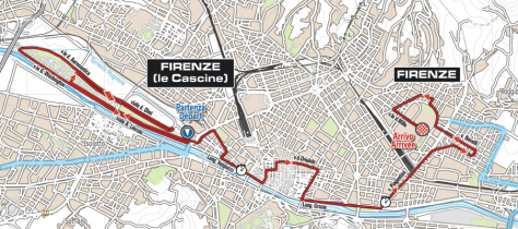 Time-Trial Route through Florence