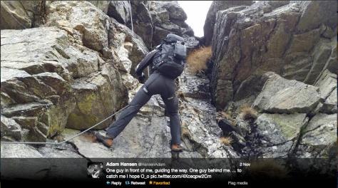 Hansen climbing