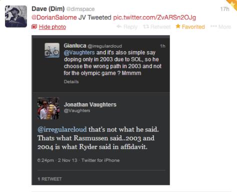 Ryder JV Dim tweet