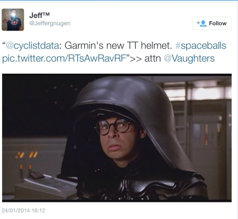 Garmin helmet darth