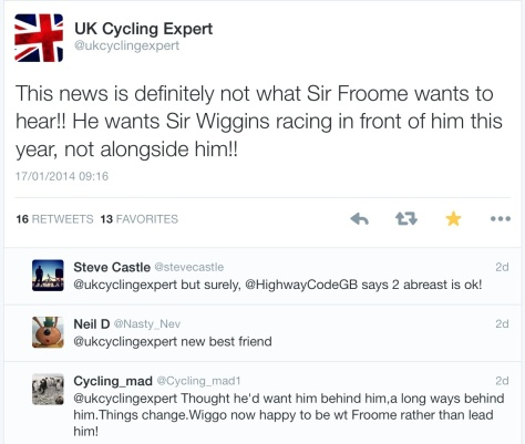 Cycling expert. Wiggo