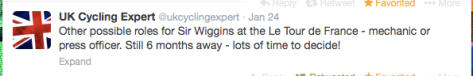Wiggo role for Tour