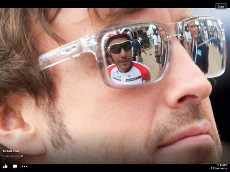 Alonso Dubai Rodriguez reflected