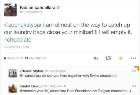 Cancellara Stybar minibar