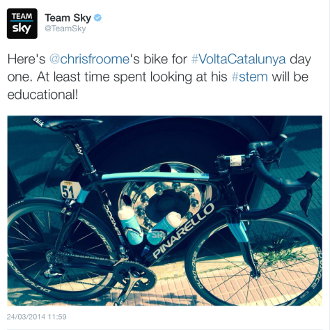 G Froome bike joke