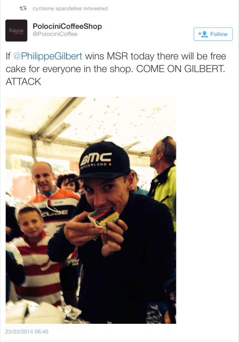 G Gilbert MSR cake