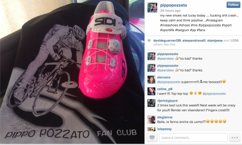 G Pozzato pink shoes