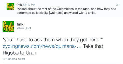 G Quintana rest of Colombians
