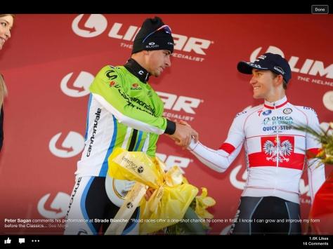 SB podium handshake