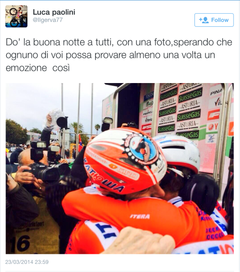 MSR finish Luca emotional