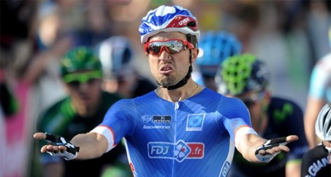 Podium place for Nacer at Nokere (image: FDJ)