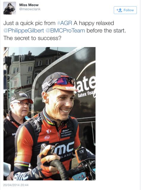 AG pre race PhilGil smile