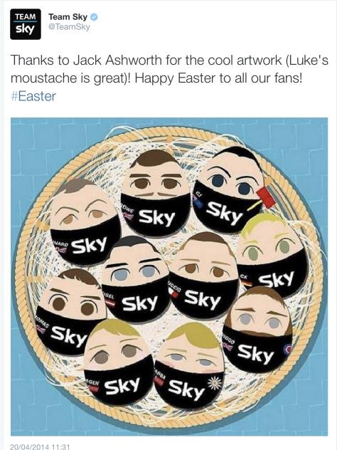 G Sky Easter eggs